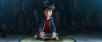 Hiro bored at a bot fight